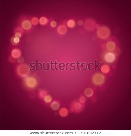 中心 グロー 斑 バレンタインデー ぼけ味 効果 ストックフォト © Andrei_