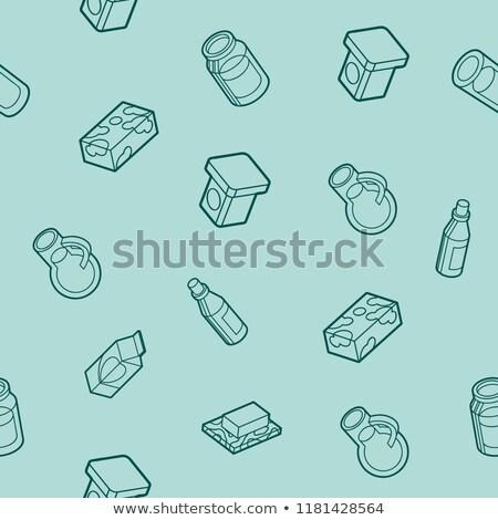 Foto stock: Leite · isométrica · padrão · gráfico · teia