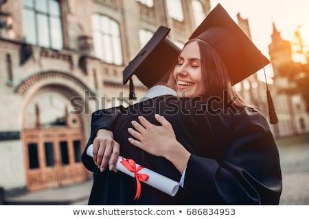 gelukkig · studenten · bachelors · vieren · afstuderen · onderwijs - stockfoto © dolgachov