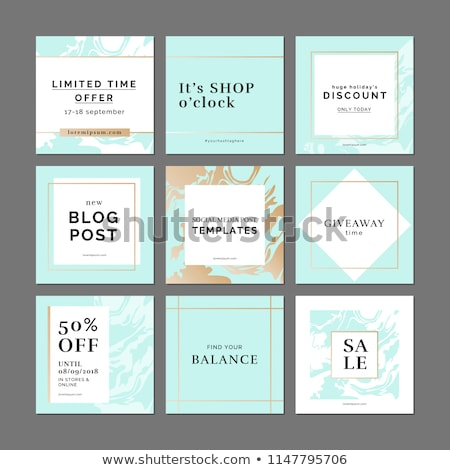 Set of Sale web banners for social media mobile apps. Elegant sale and discount promo backgrounds wi Stock photo © ikopylov