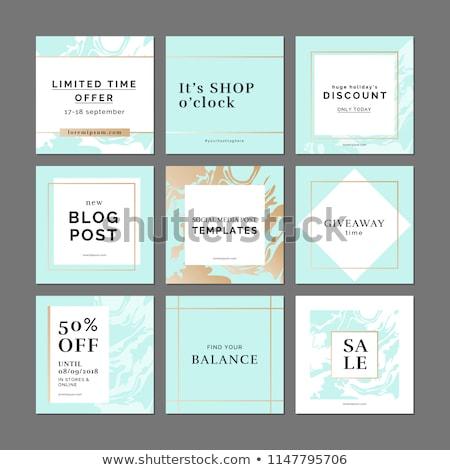 social · media · banners · online · winkelen · vector · illustraties · website - stockfoto © ikopylov