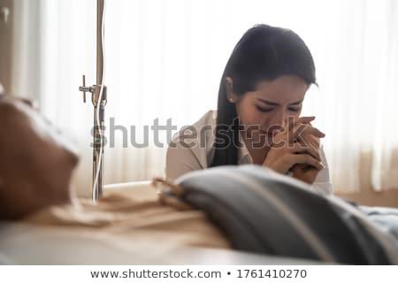 Férj néz feleség kórház család férfi Stock fotó © Elnur