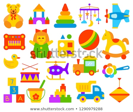 toys flat concept icons stock fotó © netkov1