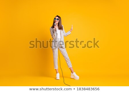 Music Performance, Singer Wearing Suit Isolated Stock photo © robuart