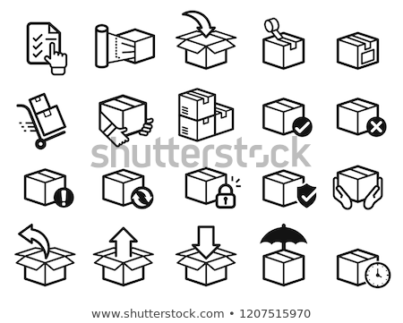 Carton Packs Vector Delivery Icons. Parcel Boxes Stock photo © robuart