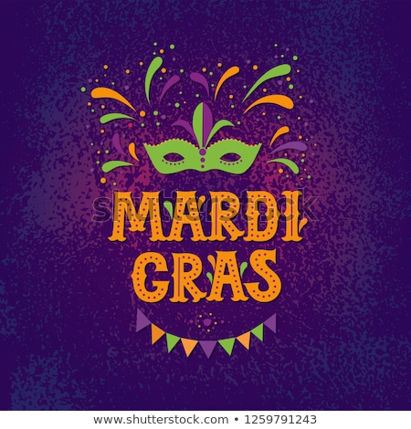 Mardi Gras Carnival Festive Vector Illustration Stock photo © robuart