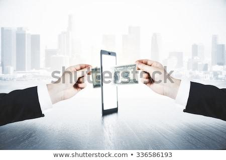 Cyfrowe technologii działalności niebieski finansów Zdjęcia stock © SArts