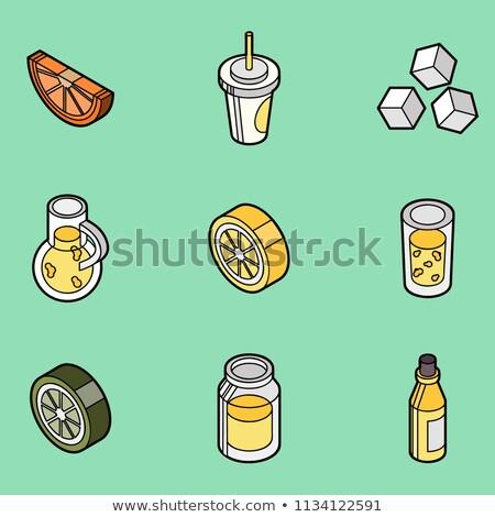 Limonada isométrica conjunto vetor ilustrações Foto stock © netkov1
