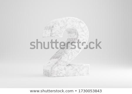Number two on white background. Isolated 3D illustration Stock photo © ISerg