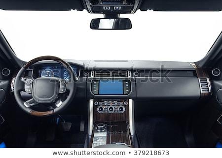 Nowoczesne luksusowe prestiż samochodu wnętrza tablica rozdzielcza Zdjęcia stock © ruslanshramko
