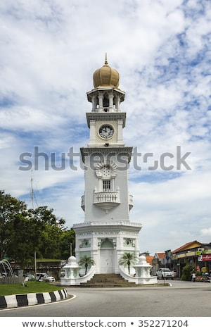 Queen Victoria Memorial clock tower - The tower was commissioned in 1897, during Penang's colonial d Stock photo © galitskaya