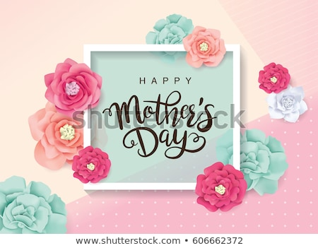 happy mother's day flower greeting card Stock photo © SArts