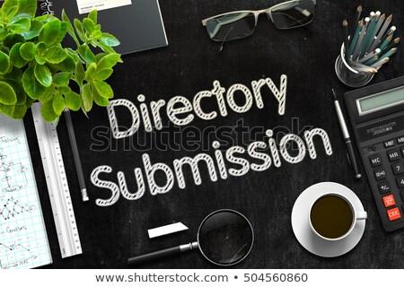 Directory Submission Service Concept on Black Chalkboard. 3D Render. Stock photo © tashatuvango