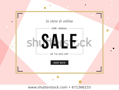 Season sale banner template. Vector illustration for website and mobile website banners, posters, em Stock photo © ikopylov