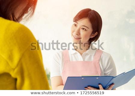 Nursery school girl_housekeeping Stock photo © toyotoyo