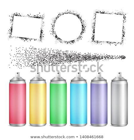 multicolored blank bottle of aerosol set vector stock photo © pikepicture