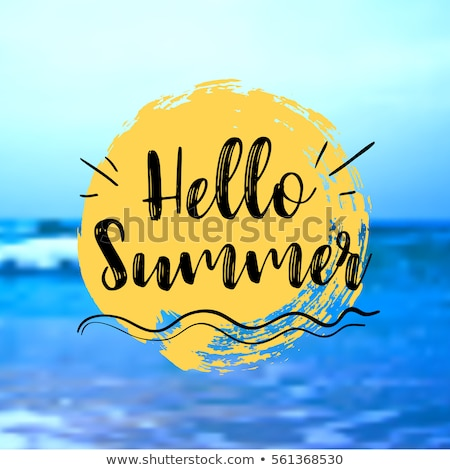hello summer beach paradise holiday background Stock photo © SArts
