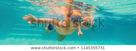 два детей дайвинг подводного бассейна Сток-фото © galitskaya