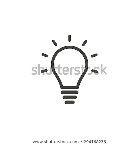 Glühlampe Idee kreative Technologie Symbole Elemente Stock foto © marish