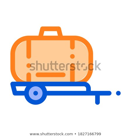Uniaxial Trailer Vehicle Vector Thin Line Icon Stock photo © pikepicture