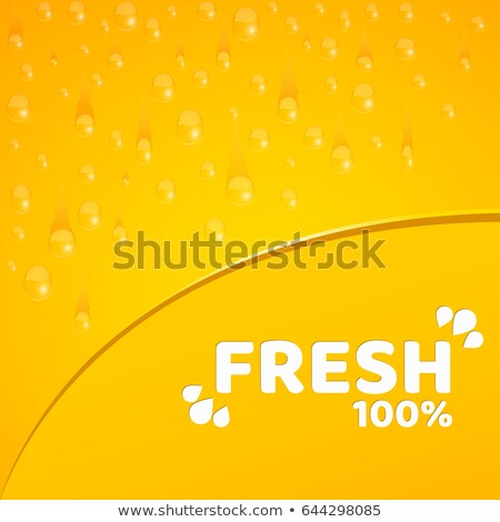 Natürlichen Projekt 100 Prozent frische Lebensmittel Vektor Stock foto © robuart
