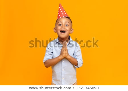 Small boy in party hat Stock photo © nyul