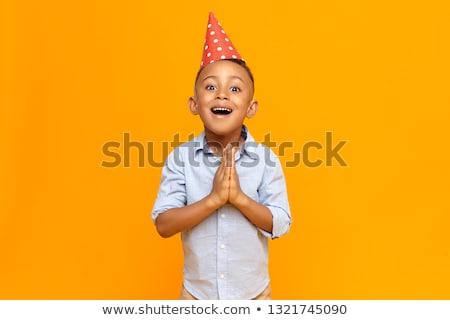 счастливым · мало · Kid · вечеринка · Роге - Сток-фото © nyul
