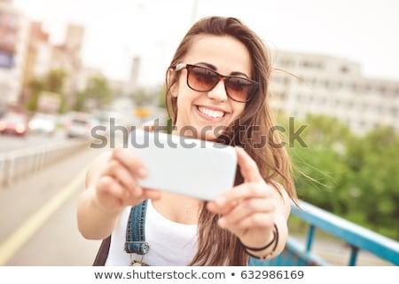 笑顔の女性 · 画像 · スマートフォン · ドリンク · レジャー - ストックフォト © dolgachov