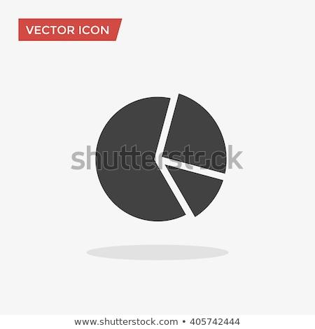 Cirkeldiagram icon Blauw frame ontwerp zwarte Stockfoto © angelp