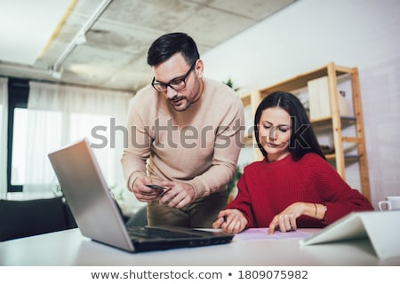 Professional business woman working with card, Doing finance on  Stock photo © Freedomz