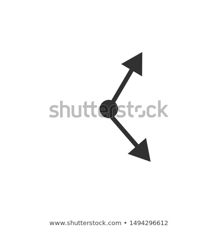 Clock rotation arrows arrowheads icon for mobile concept and web design. Time sync simpleSymbol, log Stock photo © kyryloff