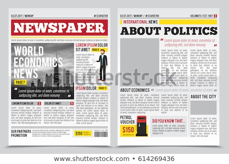Newspapers with Columns and Information Text Set Stock photo © robuart