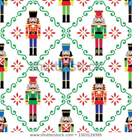 Christmas vector kerstmis soldaat beeldje Stockfoto © RedKoala