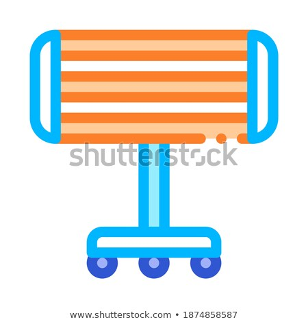 Portable Heating Device On Rollers Vector Icon Stock photo © pikepicture