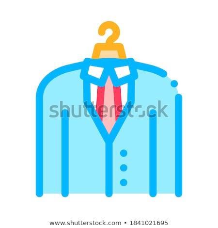 üzlet öltöny jelmez álláskeresés vektor ikon Stock fotó © pikepicture
