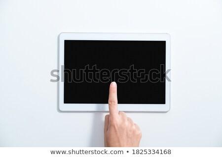 指 · 触れる · 電話 · ホログラム · アプリ · アイコン - ストックフォト © ra2studio