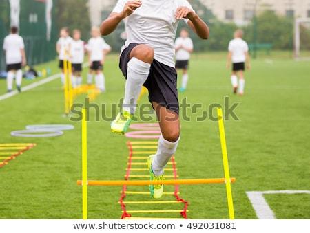 Futball futball képzés felszerlés gyakorlat gól Stock fotó © matimix