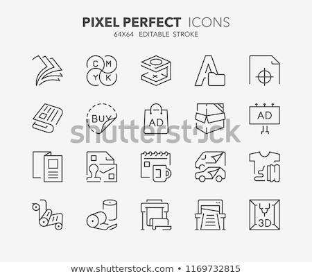 3D printing icon set Stock photo © bspsupanut
