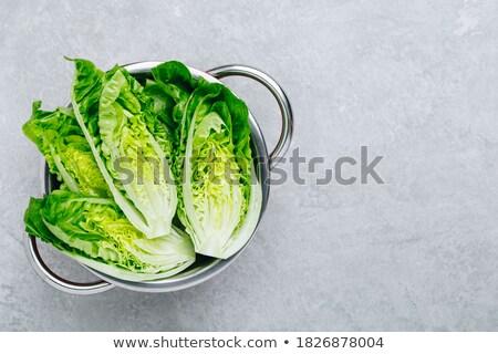 Głowie sałata kamień zdrowe odżywianie Zdjęcia stock © lichtmeister