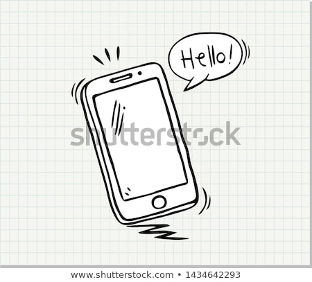 smartphone modern electronic technology ink vector stock photo © pikepicture