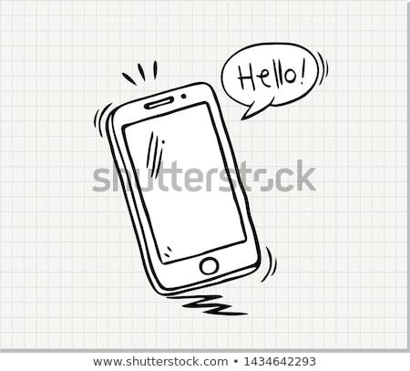Okostelefon modern elektronikus technológia tinta vektor Stock fotó © pikepicture