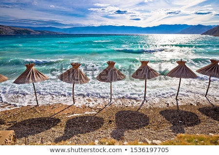 Idyllic turquoise beach in Baska view, Island of Krk Stock photo © xbrchx