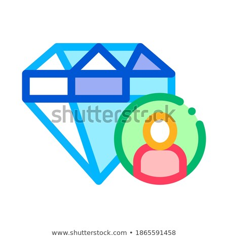 diamant · menselijke · talent · icon · vector · dun - stockfoto © pikepicture