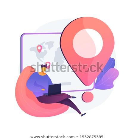 Para estado vector metáforas móviles compras Foto stock © RAStudio
