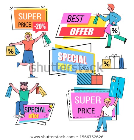 Man near Caption, Best Offers on Black Friday Sale Stock photo © robuart