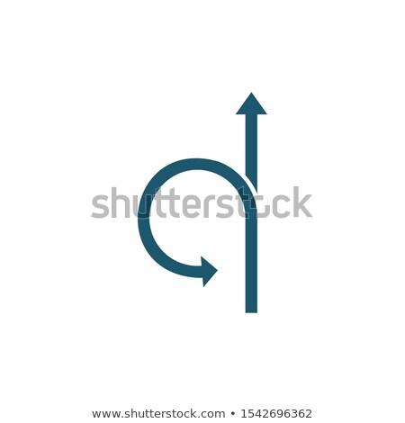 Nyilak egyenes előre fordul hát ikon Stock fotó © kyryloff