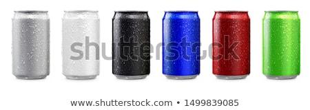Siyah içmek can beyaz bir yalıtılmış Stok fotoğraf © make