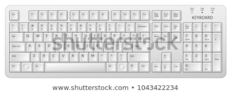 PC Keyboard with Buttons to Input Information Stock photo © robuart
