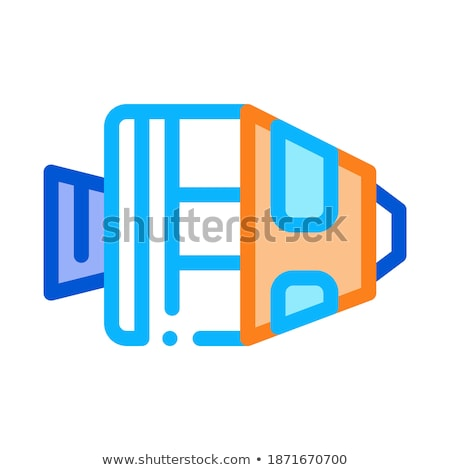 Spaceship Return Unit Icon Outline Illustration Stock photo © pikepicture