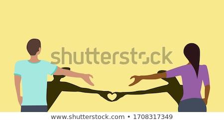 Social Distancing Love Heart Vector Stock photo © THP